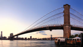 Brooklyn Bridge in New York City Manhattan Stock Photos