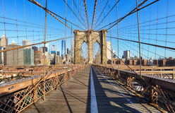 Brooklyn Bridge, New York City, nobody Royalty Free Stock Photos