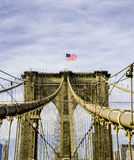The Brooklyn Bridge. Is a bridge in New York City and is one of the oldest suspension bridges in the United States. Completed in 1883, it connects the boroughs Royalty Free Stock Images