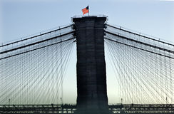 Brooklyn Bridge New York City Silhouette Stock Image