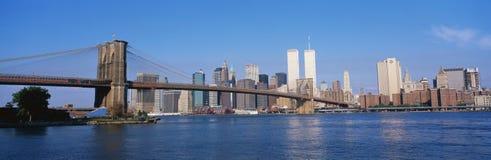 Brooklyn Bridge and New York City skyline Stock Photography