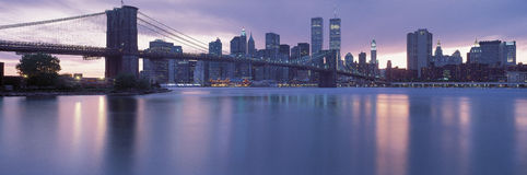 Brooklyn Bridge and New York City skyline Royalty Free Stock Photography