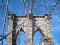 The Brooklyn Bridge in New York City stock image