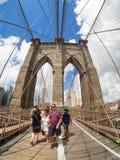 The Brooklyn Bridge in New York City Stock Photography