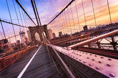 Brooklyn Bridge in New York City Royalty Free Stock Images