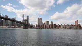 Brooklyn Bridge, New York City,  USA stock video footage