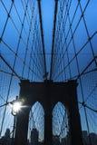 The Brooklyn bridge, New York City. USA. Royalty Free Stock Photo