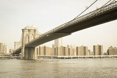 Brooklyn Bridge. New York city view  - Brooklyn bridge Royalty Free Stock Photo