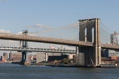 Brooklyn Bridge in New York City. View of Brooklyn Bridge in New York City Royalty Free Stock Photo