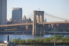 The Brooklyn Bridge in New York City royalty free stock photography