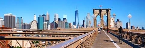 Brooklyn bridge and New York cityscape Royalty Free Stock Photography