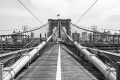 Brooklyn Bridge, New York. Brooklyn Bridge, connecting Manhattan and Brooklyn, New York, USA Royalty Free Stock Photography