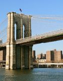 Brooklyn Bridge from New York Harbor. New York royalty free stock photos