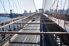 Brooklyn Bridge New York Manhattan Hudson River.  Royalty Free Stock Photography