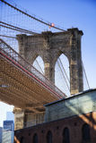 Brooklyn bridge in New York Royalty Free Stock Images