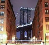 Brooklyn Bridge in New York. Photo was shot from Brooklyn's side. Brooklyn Bridge, The famous bridge connect Manhattan and Brooklyn borrows. New York City Royalty Free Stock Image