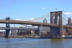 Brooklyn bridge. New York from Pier 17 Royalty Free Stock Image