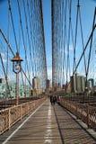 Brooklyn bridge in New York in sepia Stock Image