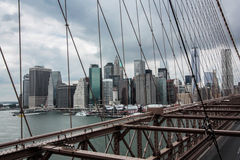 Brooklyn bridge, New York, Skyline Stock Photography