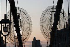 Brooklyn Bridge. New York at sunset Stock Photo