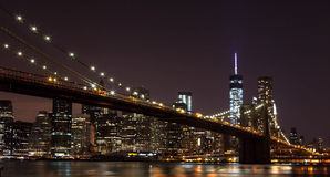 Brooklyn Bridge. New York. United States. Brooklyn Bridge in summer night. New York. United States royalty free stock images