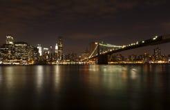 Brooklyn bridge by night Royalty Free Stock Photo