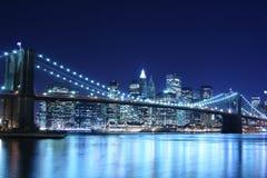 Brooklyn Bridge At Night royalty free stock photography