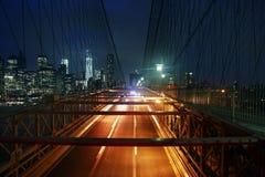Brooklyn Bridge at night Royalty Free Stock Photo