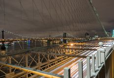 Brooklyn bridge by night,New York Stock Photography