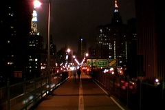 Brooklyn Bridge At Night stock footage