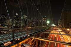 Brooklyn bridge night scene Stock Photo