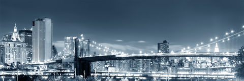 Brooklyn bridge night view Royalty Free Stock Photography