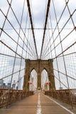 Brooklyn Bridge, nobody, New York City USA. Suspension predestant Brooklyn Bridge, nobody, New York City USA stock image