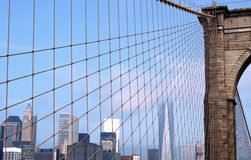 Brooklyn Bridge NY Skyline Stock Photo