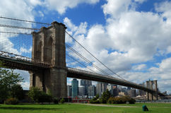 Brooklyn Bridge in NYC. The famous Brooklyn Bridge in New York City Royalty Free Stock Photography