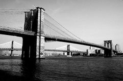Brooklyn Bridge in NYC. Brooklyn Bridge in New York City royalty free stock photo