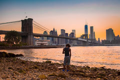 Brooklyn Bridge and NYC Royalty Free Stock Photo