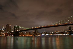 Brooklyn Bridge NYC 2014. New York City 2014 September, Brooklyn Bridge picture taken from Brooklyn, Nikon D3100, ISO100, Shutter s.25 Stock Photo