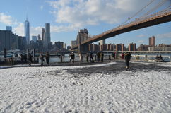 Brooklyn Bridge, NYC Stock Images