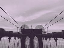 Brooklyn Bridge in NYC Royalty Free Stock Photos