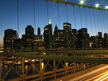 Brooklyn Bridge & NYC Skyline Royalty Free Stock Images