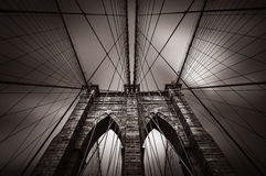 Brooklyn bridge in NYC, USA Stock Images