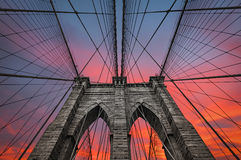 Brooklyn bridge in NYC, USA Royalty Free Stock Images