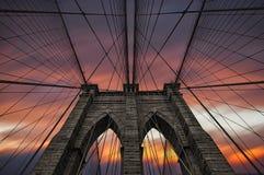Brooklyn bridge in NYC, USA Royalty Free Stock Photo