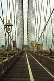 The Brooklyn Bridge. The old Brooklyn Bridge in New York city Royalty Free Stock Photography