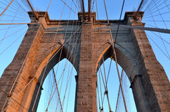 The Brooklyn Bridge Royalty Free Stock Photography