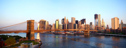 Brooklyn Bridge panorama Royalty Free Stock Photo