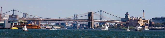 Brooklyn Bridge, Panoramic view. Stock Photography