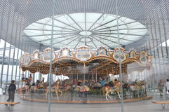 Brooklyn Bridge Park Carousel Royalty Free Stock Image