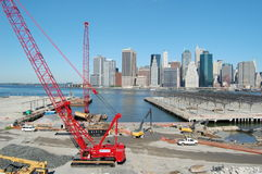Brooklyn Bridge Park Construction Stock Photography